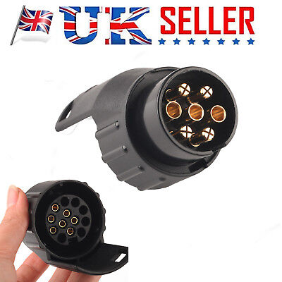 7 to 13 pin 12V Car Truck Caravan Towbar Towing Socket Plug Adapter Converter UK