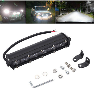 Spot Beam Slim LED Work Light Bar Single Row Super Bright Car SUV Off Road Lamps