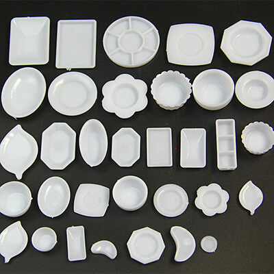 33Pcs/set Dollhouse Miniature Dish Tableware Kitchen Mini Food Plate Accessories