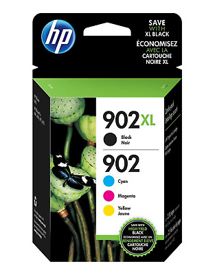 HP 902XL 4-pack Black (XL)/Cyan/Magenta/Yellow Original Ink Cartridges