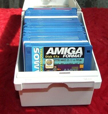 41 Amiga disks in lockable box.  All magazine cover disks.