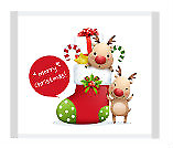 Merry Christmas - Reindeer Motif Individually Wrapped - (approx 100pc /  520g...
