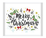 Merry Christmas - Greetings Motif Individually Wrapped - (approx 100pc /  520...