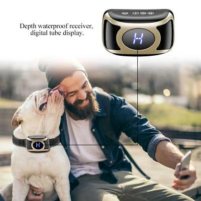 Dog Anti Bark Collar Adjustable USB Rechargeable Shock Vibration Pet Training