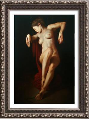 """Hand painted Original Oil Painting art Portrait lady nude Girl on canvas 24""""x36"""""""