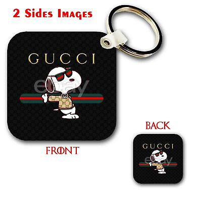 fc5d53a6284e 53Gucci Snoopy Custom Keychain Key Ring Jewelry Pendant with 2 Sides