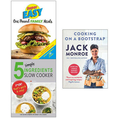 Cooking on a Bootstrap 3 Books Collection Set Super Easy One Pound Family Meals
