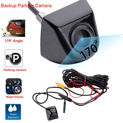Car Rear View CCD 170° Angle Reverse Backup Parking Camera Night Vision