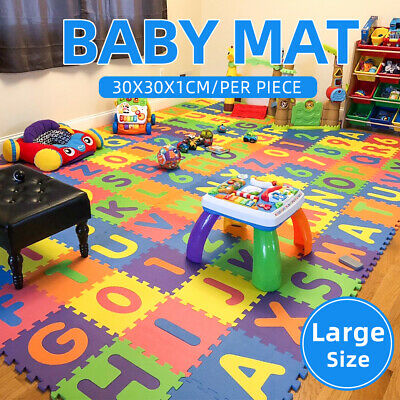10pcs Kids Baby Alphabet/Number/Color Interlocking EVA Foam Floor Mats