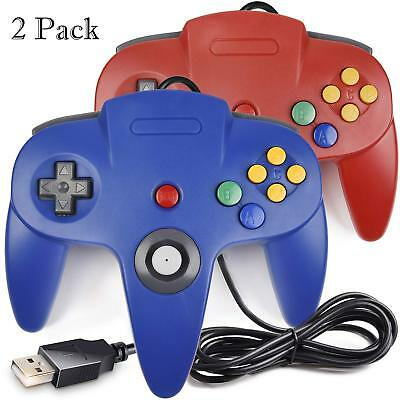 N64 Bit USB Wired Game Stick for Windows PC MAC Linux Raspberry Pi 3