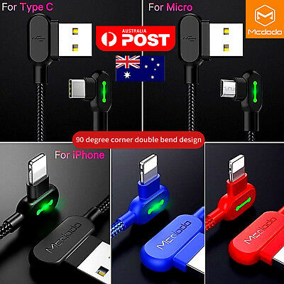Mcdodo Lightning Bolt Braided Sync Charging Cable Charger iPhone Samsung Android