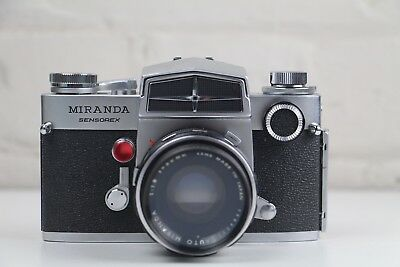 MIRANDA SLR 35mm Film Camera +  Leather Case + Flash ***** Excellent Condition!