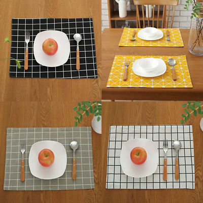 32x45cm Rectangle Place Mat Geometry Dishware Coasters Nordic Home Party Decor