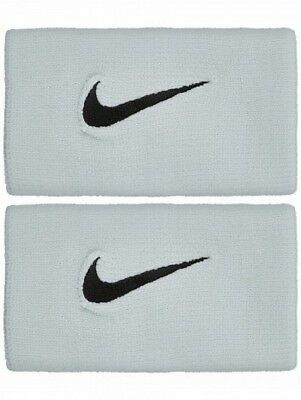 Nike Dri-Fit 2.0 Double Width Wristbands - Barely Grey - Free P&P