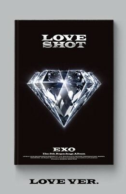 K-POP EXO 5th Repackage Album [LOVE SHOT] LOVE Ver. CD+72p Photobook+Photocard