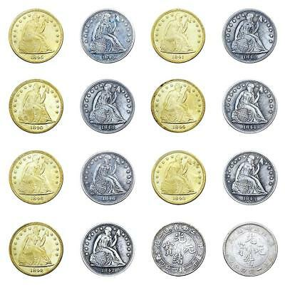 Gold and Silver Two-color Eagle Collection Commemorative Coins Gift 1840-1846