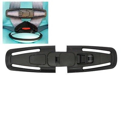 1pc Black Car Baby Safety Seat Strap Belt Harness Chest Child Clip Safe Buckle