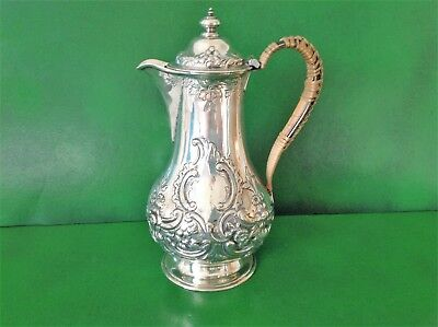Antique Victorian Silver Hot Water/coffee Pot -1859