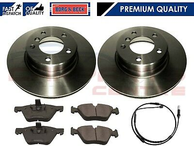 BBD5707S PREMIUM FRONT 296mm VENTED BORG BECK COATED BRAKE DISCS PADS SET