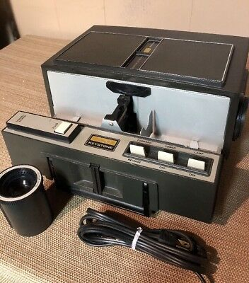 Keystone Slide Projector Model 770 With Extra Bausch & Lomb Lens