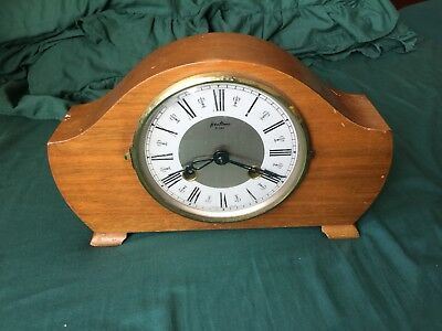 Antique Vintage Bentima 8 Day Westminster Chiming Wooden Mantle Clock Wow