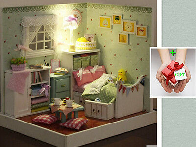 New Wizard of Oz Dollhouse Miniature DIY Kit and LED Wood Toy doll house ro+GIFT