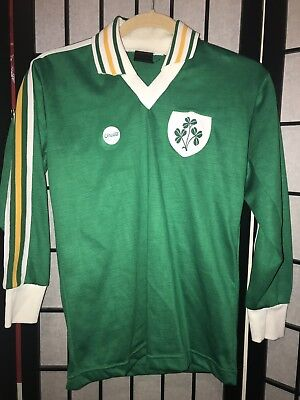 Rare Vintage 70s  O'NEILLS RUGBY Shirt JERSEY Striped Republic Of Ireland Patch