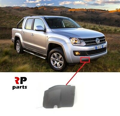 NEW GENUINE OEM Front Bumper Right Tow Hook Black Cover VW Amarok 2010-2012