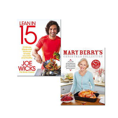Lean in 15 The Shift Plan and Mary Berry's Christmas Collection 2 Books Set NEW