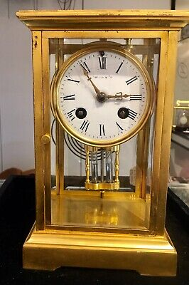 8 Day French Four Glass Mercury Pendulum Clock