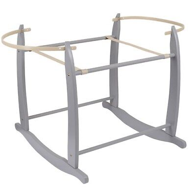 NEW Clair de Lune Deluxe Rocking Moses Basket Stand (Grey)