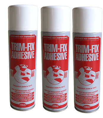 3X500ML Cans Trimfix High Temp Spray Adhesive 500ml Tins - SPECIAL OFFER !!