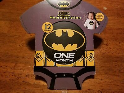 Batman First Year Milestone 12 Belly  Stickers DC