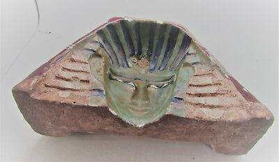 Very Rare Ancient Egyptian Mould Of A Pharoahs Head For Casting