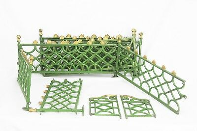 Antique Painted Cast Iron Christmas Tree Fence with Gate ca1910