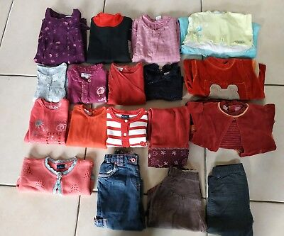 Lot De 17 Vêtements Fille 18 Mois