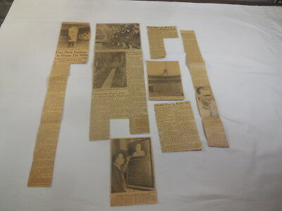 Lot of Babe Ruth Dies Newspaper Clippings From 1948 Plus Hack Wilson Clipping