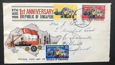 Singapore. 1966. First Day Cover, First Anniversary Set. SG89/91.
