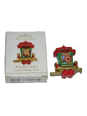 Hallmark Keepsake Reindeer Rider Santas Holiday Train Ornament 2011
