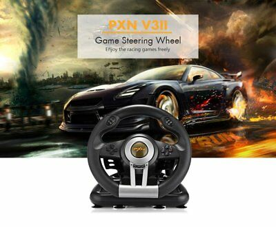 PXN V3II Racing Game Steering Wheel with Brake Pedal For PS3 PS4 and Xbox One GG