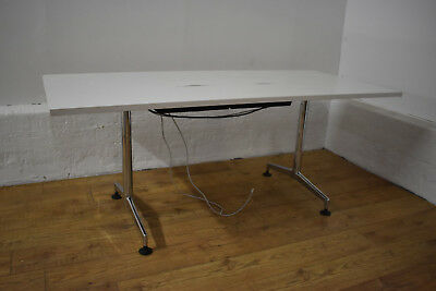 KUSCH White Chrome Office Boardroom / Meeting Table