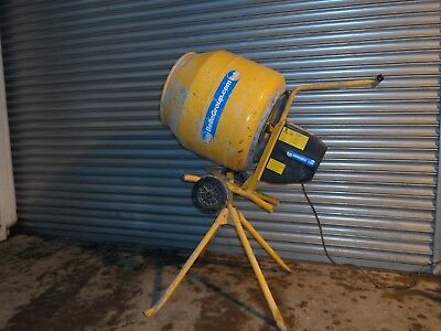 2013 BELLE MINIMIX 130 ELECTRIC 240v CONCRETE CEMENT MIXER AND STAND CAN DELIVER