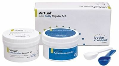 2 Pack Of Ivoclar Vivadent Virtual Putty Rubber Base Material Fast Shipping