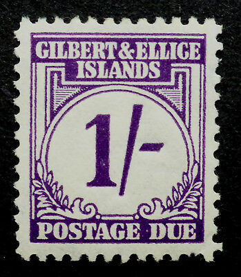 Gilbert  & Ellice Islands S.g.# D7 Vf Mint * Postage Due 1 Shilling Cat  21 Lbs.