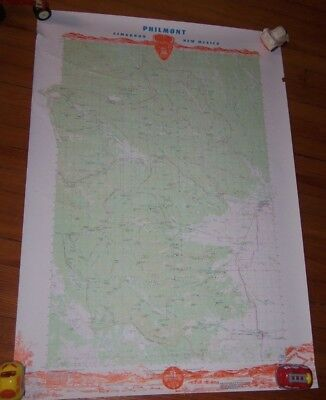 """HTF VINTAGE  Philmont Boy Scout Ranch Map Poster BSA 39x28"""" NICE!"""