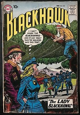 Blackhawk Comic (Dc,1959) #133 First Lady Blackhawk Silver Age ~