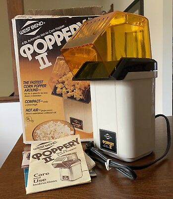 West Bend Poppery II Popcorn Popper Coffee Bean Roaster Excellent Condition