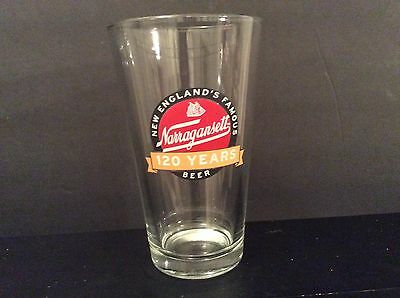 Pint Beer Glass New England's Famous Narragansett Beer 120 Years