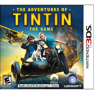 The Adventures of Tintin- The Game- Nintendo 3DS- Brand New Fast Ship! (DS3-121)