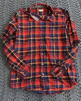 ac2914e2b Cat and Jack Boy's Button Up Flannel Shirt Size XL (16) Plaid Long Sleeve